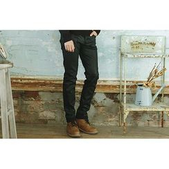 SCOU - Coated Straight-Cut Jeans
