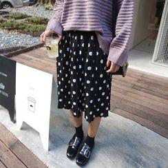 Eva Fashion - 圆点打褶裙子