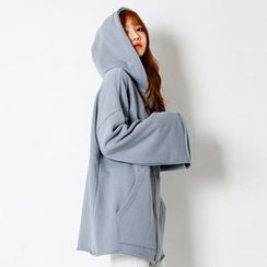 FASHION DIVA - Wide-Sleeve Kangaroo-Pocket Hoodie