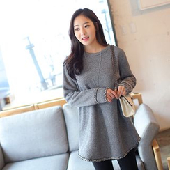 CLICK - Brushed-Fleece A-Line Pullover
