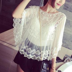 Fashion Street - Sheer Lace Cover-up
