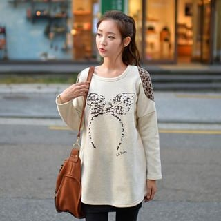 CLICK - Fleece Inset Drop-Shoulder Sweatshirt