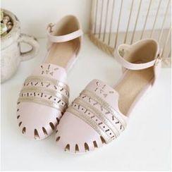 Tomma - Laser Cut Flat Sandals