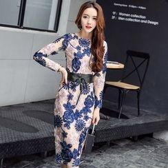 Lovi - Rosette Midi Sheath Dress