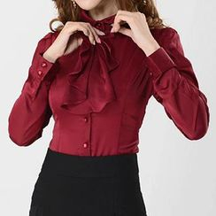 Caroe - Ruffle Long-Sleeve Shirt