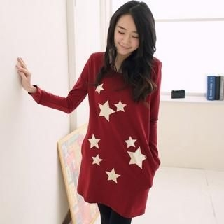 Star-Detail Long Top