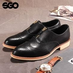 Armsal - Genuine-Leather Perforated Zip Loafers