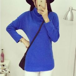 Oaksa - High Neck Long Sweater