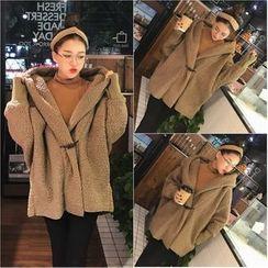 Dream Girl - Hooded Oversized Fleece Coat