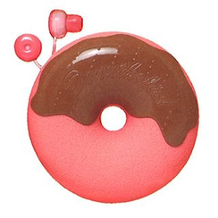 Zumreed - Zumreed Donuts Earphone (Cord Wrap + Earphones) (Strawberry Chocolate)