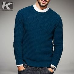 Quincy King - Plain Knit Pullover