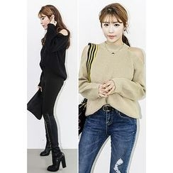 INSTYLEFIT - Cutout-Shoulder Sweater