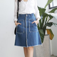 Tokyo Fashion - Denim A-Line Skirt