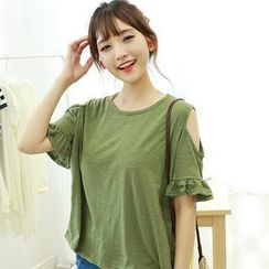 Dodostyle - Cut Away Short-Sleeve Top