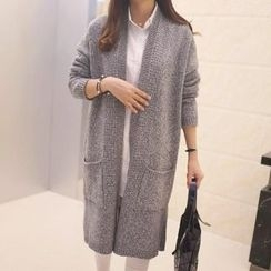 Yamster - Plain Long Cardigan