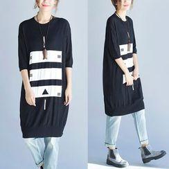 Epoch - Print Short-Sleeve T-shirt Dress