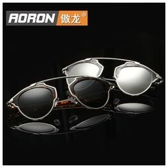 AORON - Double Bridge Round Sunglasses