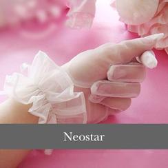 Neostar - Ruffle Trim Wedding Gloves