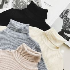 Jack Grace - Turtleneck Ribbed Sweater