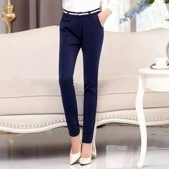 Neeya - Plain Slim Fit Pants