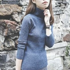 Polaris - Turtleneck Ribbed Sweater