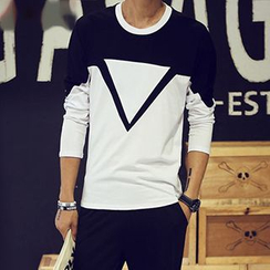 maxhomme - Two-Tone Long-Sleeve T-Shirt