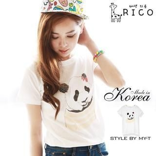rico - Short-Sleeve Panda T-Shirt