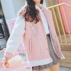 Ashlee - Color Block Corduroy Jacket
