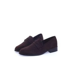 Ohkkage - Faux-Suede Penny Loafers