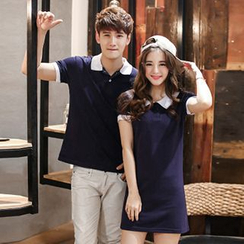 Azure - Couple Matching Polo Shirt / Polo Shirtdress