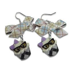 Sweet & Co. - Ribbon Miss Preppy Cupcake Crystal Earrings