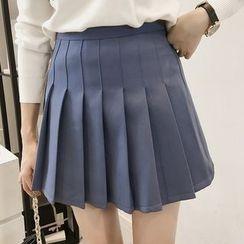 Little V - Pleated Mini Skirt