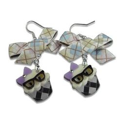 Sweet & Co. - Ribbon Miss Preppy Cupcake Crystal Earrings