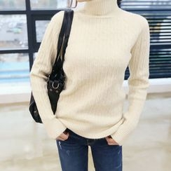DANI LOVE - Turtle-Neck Cable-Knit Sweater