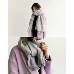 UPTOWNHOLIC - Checked Knit Scarf