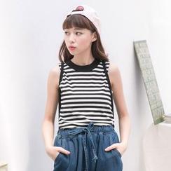 Tokyo Fashion - Striped Sleeveless Top