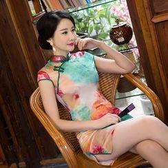 Maura Qipao - 盖袖印花旗袍