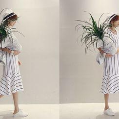 NANING9 - Sleeveless Stripe Dress