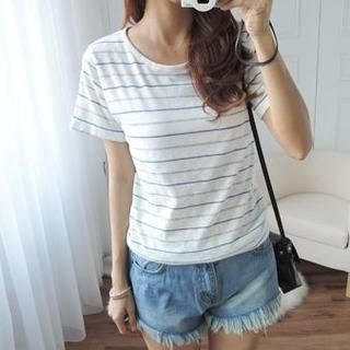 CYNTHIA - Short-Sleeve Stripe T-Shirt