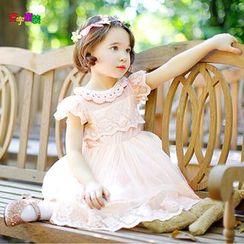 Cuckoo - Kids Short-Sleeve Lace Dress