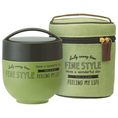 Skater - Fine Style Thermal Lunch Jar with Case (Green)