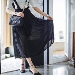 Bongjashop - Chiffon Suspender Skirt