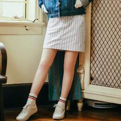Hanayoshi - Striped Miniskirt