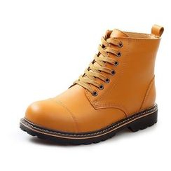 EnllerviiD - Genuine-Leather Chukka Boots