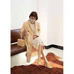 ssongbyssong - Double-Breasted Notched-Lapel Trench Coat