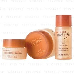Etude House - Collagen Moistfull Skin Care Kit (3 items): First Essence 15ml + Cream 10ml  + Eye Cream 5ml (mini)