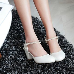 JY Shoes - Ankle Strap Pumps