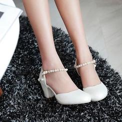 錦洋鞋業 - 粗高跟涼鞋