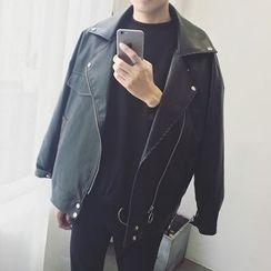 子俊 - 仿皮機車夾克