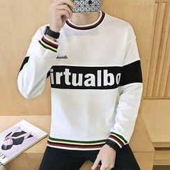 Alvicio - Letter Colour Block Sweatshirt
